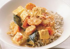 Panang Tofu Curry  Based on the spicy red Thai curry, this version of panang curry uses tofu, which makes a nice change in protein.