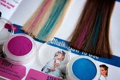 Image result for does hair chalk work on black hair