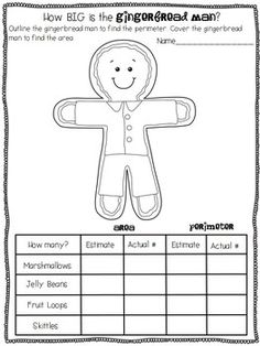 Gingerbread Fun: Area and Perimeter Love Math, Fun Math, Math Games, Math Activities, Christmas Math, Christmas 2015, 1st Grade Math, Third Grade, Classroom Teacher
