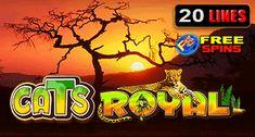 Online Casino Game: Cats Royal at Maneki casino Casino Promotion, Online Casino Games, Slot, Neon Signs, Cats, Gatos, Cat, Kitty, Kitty Cats