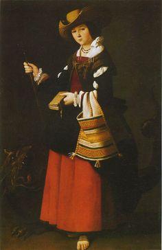 ZURBARAN, Santa Margherita, 1631, National Gallery, Londra
