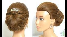 Easy Wedding Hairstyles with Puff: Beautiful Bridal Updo - YouTube