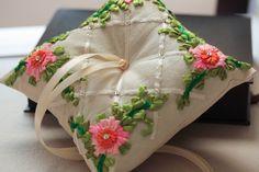 Ring bearer pillow - boho wedding