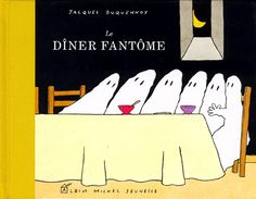"Ghost Party by Jacques Duquennoy, tr. Antonia Parkin - ""best book ever"". Tapas, Preschool Pictures, Book Design Inspiration, Fall Preschool, Halloween Activities, Preschool Halloween, Literacy Stations, Smosh, Le Diner"