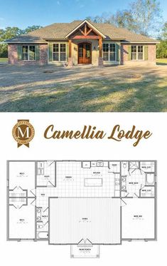 Camellia Lodge Living Sq Ft: Bedrooms: 3 Baths: 2 Lake Charles Lafayette L… – farmhouse plans Simple House Plans, New House Plans, Dream House Plans, House Floor Plans, Square House Plans, Simple Floor Plans, Open Floor House Plans, Shop House Plans, Ranch House Plans