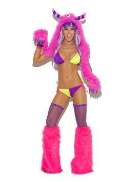 Furry Monster Hood, Sensual Secrets, Costumes, Sensual Secrets, Dancewear, Stagewear, Intimate, Lingerie, Sexy Clothing | Sensual Secrets Lingerie