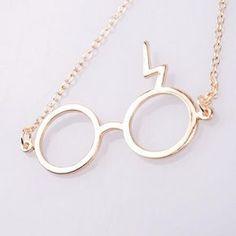 Harry Potter Classic Movie Lightning Scar Metal Glasses Z Word Pendant Necklace