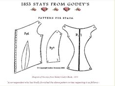 1853 Godey's Lady's Book pattern for stays