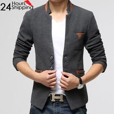Top Quality Men's Single Button Blazer 3 Colors  for only  $43.20 & FREE Shipping Worldwide!     #fashion #apparel #clothing #style
