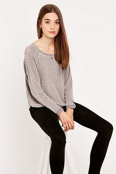 BDG Long Sleeve Waffle Top - Urban Outfitters