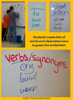 Word Work for Older Kids! This activity has students come up with a list of words that have one concept in similar. This concept may be parts of speech, verb tenses, rhymes, synonyms/antonyms, and so much more! Read the post for full details.