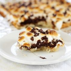 Smore Macaroon Bars by itbakesmehappy
