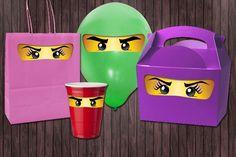 Ninjago Eyes Ninjago Girl Eyes Eyelashes- 3 Sizes Birthday Party DIY PRINTABLE