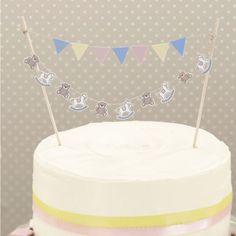 Guirlande gâteau bébé - Rock a Baby - http://www.instemporel.com/s/3458_187567_guirlande-de-gateau-rock-a-baby #birthday #baby #baptism
