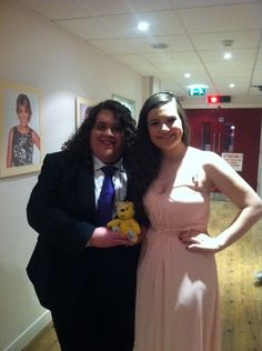 Jonathan & Charlotte, Finalists @ Britain's Got Talent 2012 support the Paul Strank Roofing Photothon with Pudsey! #cin #pudsey #pudseyphotothon
