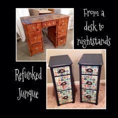 Desk into nightstands