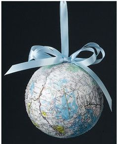 Recycled Map Christmas Ornament | FaveCrafts.com