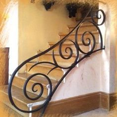 Most up-to-date Screen Wrought Iron stair railing Popular House adorning together with wrought iron is usually as solid these days because the wrought iron precious met. Wrought Iron Stair Railing, Iron Staircase, Wrought Iron Decor, Staircase Railings, Railing Design, Staircase Design, Iron Furniture, Furniture Design, Furniture Market