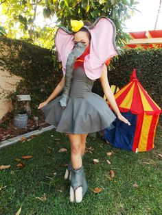 Me in my Dumbo Cosplay. Tutorial on how to make the pieces coming soon!