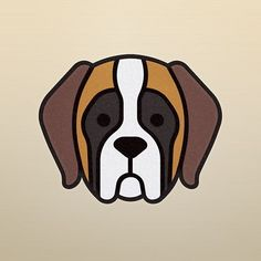 Saint Bernard #saintbernard #stbernard #dog #animals #graphic #graphicdesign #illustration #dogstagram #meanimize