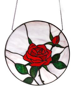 Red Rose Stained Glass hanging wall decor by ArtKvarta Etsy Handmade, Handmade Gifts, Moving Gifts, Rose Wall, Stained Glass Flowers, Tiffany Glass, Shattered Glass, Handmade Decorations, Glass Panels