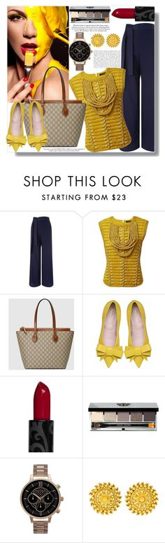 """""""Fashion is Mute Without Style, your character & enthusiam gives it a voice"""" by xwafflecakezx ❤ liked on Polyvore featuring Miss Selfridge, Balmain, Gucci, Bobbi Brown Cosmetics, Olivia Burton, women's clothing, women, female, woman and misses"""