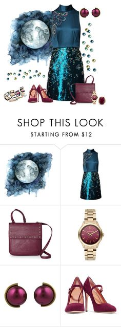 """""""Earth,Air,Fire,Water contest"""" by empathetic ❤ liked on Polyvore featuring Matthew Williamson, Nine West, Karl Lagerfeld, Lanvin and Halston Heritage"""