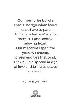 our memories built a bridge to our loved one funeral poem funeral