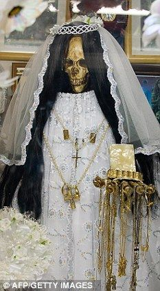 "The ""Santa Muerte' (Holy Death)cult in Mexico places great importance on the dead."