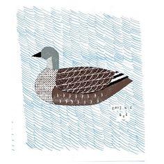 Mutsuro Masako, collage, print, design, duck, bird, water, pattern, colour, illustration, texture