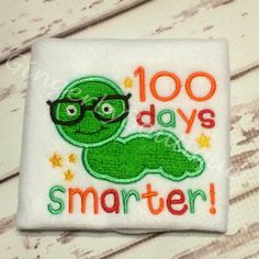 100 Days Smarter Worm Shirt Unisex 100 days of by GingerLyBoutique
