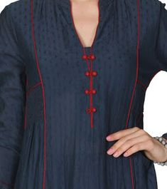 Latest Kurti Neck Designs for Girls - Dress Design Salwar Neck Designs, Kurta Neck Design, Neckline Designs, Kurta Designs Women, Dress Neck Designs, Blouse Designs, Latest Kurti Designs, Plain Kurti Designs, Khadi Kurta