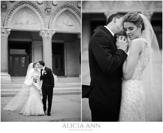 Elegant and classy winter wedding portrait ideas with the bride and groom