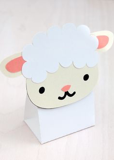 Sheep Treat & Favour Box. Printable PDF. $3.00
