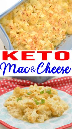 EASY Keto Cauliflower Mac and Cheese! Low Carb Mac & Cheese Idea – Quick – Healthy – Baked Ketogenic Diet Recipe – Completely Keto Friendly – Healthy Dinner About Califlower Mac And Cheese, Keto Mac And Cheese, Mac Cheese, Gluten Free Baked Macaroni And Cheese Recipe, Cheese Food, Cheddar Cheese, Ketogenic Recipes, Diet Recipes, Healthy Recipes