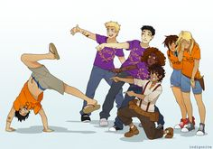 The entire Percy Jackson series in one image.