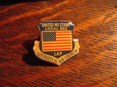 """Local Diversity Is Our Strength. A Great looking / collectible lapel pin ! Maker's Marks: """"Local OPEIU USA Made. Workers Union, Louisville Kentucky, Lapel Pins, Makers Mark, Plant, The Unit, Movies, Ebay, Vintage"""