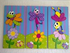 AVENTURAS COUNTRY: CUADROS INFANTILES Foam Crafts, Diy And Crafts, Arts And Crafts, Paper Crafts, Diy For Kids, Crafts For Kids, School Decorations, Preschool Art, Punch Art
