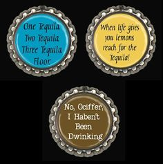Magnets Fridge Office Funny Bottle Cap Set of 3