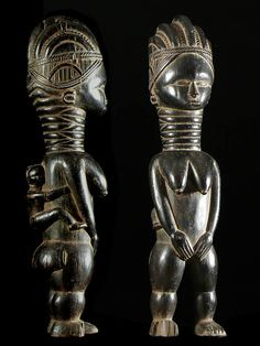 Statuette de fertilite Minsereh - Mende - Sierra Leone