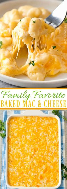 Family Favorite Baked Mac and Cheese | Rich and creamy baked mac and cheese, filled with multiple layers of shredded cheeses and smothered in a smooth cheese sauce for the ultimate macaroni and cheese! | http://thechunkychef.com