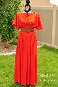 A 3 Seam Caftan Dress! I love this and certainly will be sewing me up one.. Lets say 2 for the summer!