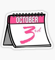 October mean girls Sticker Mean Girls Halloween, Mean Girls Party, Tumblr Stickers, Cool Stickers, Mean Girls October 3rd, My Love Meaning, Drawing Prompt, Snapchat Stickers, Pink Quotes