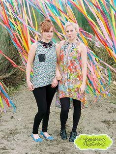 VP Simone and Roxanne in Josephine Kimberling fabric
