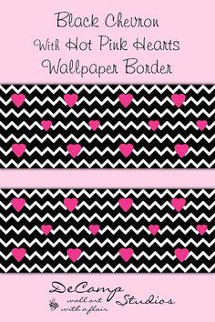 Fine Decor Glitz Glitter Love Hearts Pink Wallpaper Border Shimmer ...