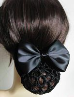 Hair Snood Bun Cover Satin Bowknot Clip no pattern - You are in the right place about DIY Hair Accessories bohemian Here we offer you the most beautiful pictures about Crochet Hair Clips, Crochet Hair Styles, Crochet Adult Hat, Crochet Hats, Crochet Ideas, Crochet Projects, Crochet Patterns, Diy Hair Accessories Easy, Snood Pattern
