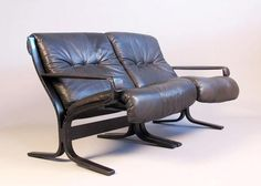 Two scandinavian sofas in the manner of Ingmar Relling.