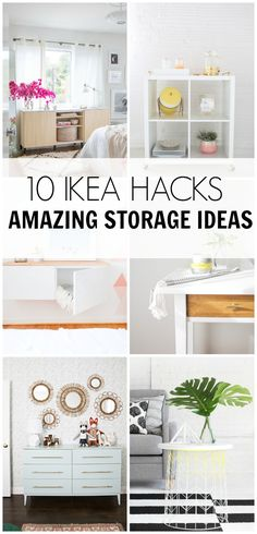 Organizing can be such a struggle. Check out these 10 IKEA HACKS- amazing storage ideas. They are pretty and they won't break the bank either.