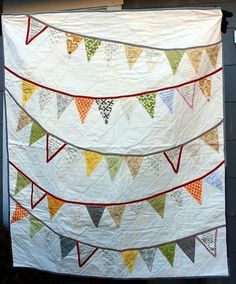 Hand Made Bunting Flags Wedding Quilt Signature Guest Book by ...                                                                                                                                                      More
