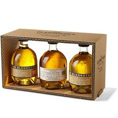 Give a little luxury. Perfect for Scotch novices and aficionados alike, this tasting flight of sorts by The Glenrothes of northern Scotland offers up three of their most popular single malts. $25.00